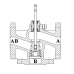 Клапан 3-х ходовой  ВКТР Ду 100