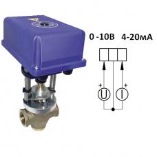 Клапан 3-х ходовой муфтовый Ду 40-аналоговый