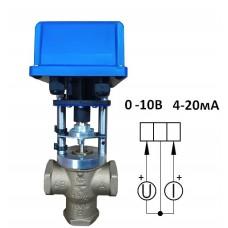 Клапан 3-х ходовой муфтовый Ду 32-аналоговый